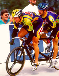 Garth Blackburn and Matt competing at the 1999 Elite National Championships in Trexlertown, Pennsylania. (Photo by Casey Gibson)