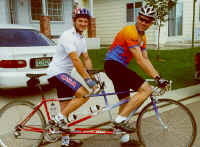 John McAlpine and Matt putting in some road miles on the Sunday group ride...
