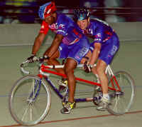 After the crash, Whiteman and King were able to get back on the tandem and qualify third fastest at the 2000 EDS Elite National Track Cycling Championships in Colorado Springs, Colo., beat their opponents in the semi-finals and went on to the gold/silver round to win a silver medal!