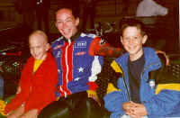 From left to right: Garrett Miller, Tanya Lindenmuth (2000 Olympian) and Ryan Miller.