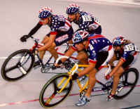Karen Dunne and Matt in the lead against Matt Veatch and Karissa Whitsell at the 1999 USABA National Championships in Trexlertown, Pennsylvania. (Photo by Casey Gibson)